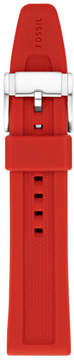 Fossil 22mm Red Silicone Watch Strap
