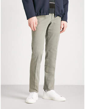 SLOWEAR Garment-dyed slim-fit stretch-cotton twill chions