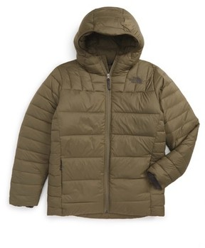 The North Face Boy's Double 550-Fill Power Down Hooded Jacket