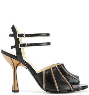 Marni contrast stripe sandals