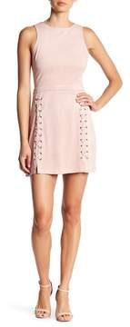 Cupcakes And Cashmere Daton Lace-Up Detailed Faux Suede Dress