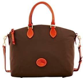 Dooney & Bourke Nylon Satchel - BROWN TMORO - STYLE