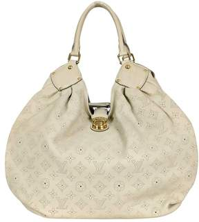 Louis Vuitton Cream Lin Mahina Leather XL Bag