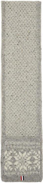 Thom Browne Grey Snowflake Fair Isle Pocket Scarf