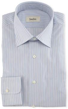 Neiman Marcus Striped Cotton Dress Shirt