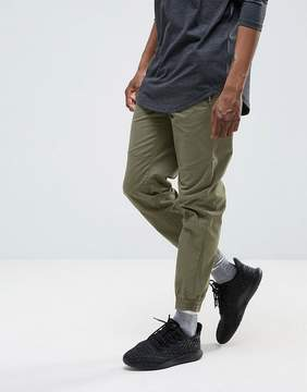 Pull&Bear Regular Fit Joggers In Khaki