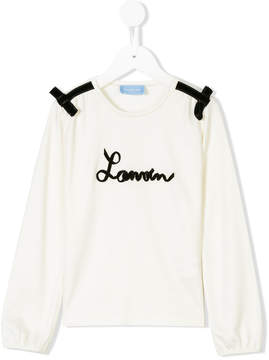 Lanvin Enfant logo long sleeved T-shirt