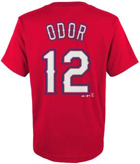 Majestic Boys 4-18 Texas Rangers Rougned Odor Player Name and Number Tee
