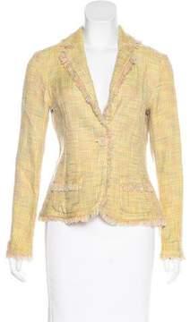 Barneys New York Barney's New York Tweed Frayed Blazer