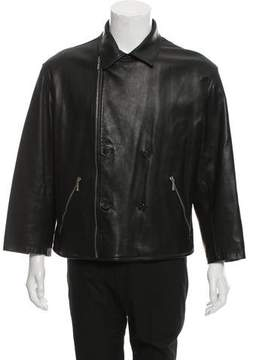 Gianni Versace Leather Cropped Jacket