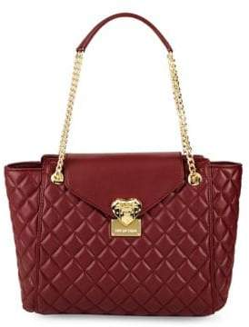 Love Moschino Quilted Flap Tote