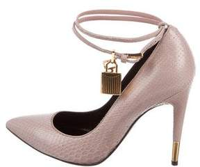 Tom Ford Python Pad-Lock Pumps