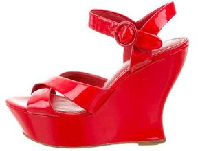 Alice + Olivia Crossover Wedge Sandals