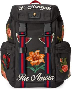 Backpack with embroidery