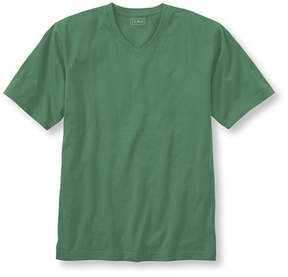 L.L. Bean Carefree Unshrinkable Tee, Traditional Fit Short-Sleeve V-Neck