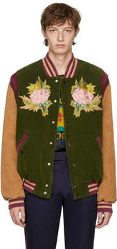 Gucci Multicolor Corduroy Modern Future Bomber Jacket