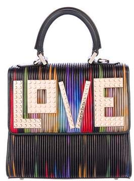 Les Petits Joueurs Alex Mini Love Pleated Leather Frame Bag