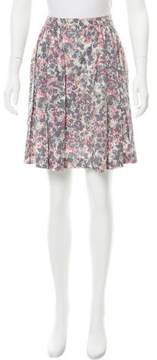 Cacharel Pleated Floral Print Skirt