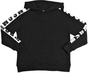MSGM Logo Printed Hooded Cotton Sweatshirt