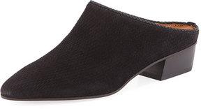 Aquatalia Fife Suede Block-Heel Mule