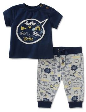 Absorba Babys Two-Piece Tee and Traveler Pant Set