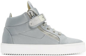 Giuseppe Zanotti SSENSE Exclusive Blue Satin May London High-Top Sneakers