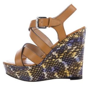 Barbara Bui Snakeskin Wedge Sandals