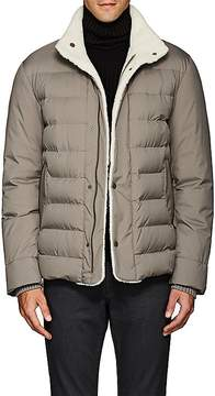 Loro Piana Men's Shearling-Trimmed Tech-Fabric Coat