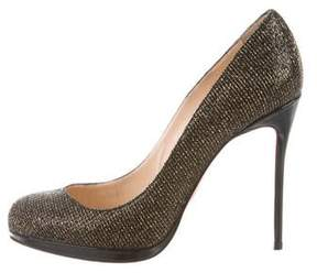 Christian Dior Round-Toe Woven Pumps