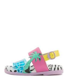 Sophia Webster Becky Malibu Mini Sandal, Aqua, Sizes 5T-2Y