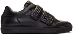 Fendi Black Embossed Logo Sneakers