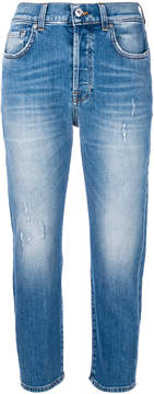 7 For All Mankind cropped cut jeans