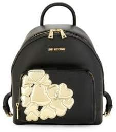 Love Moschino Metallic Heart Backpack