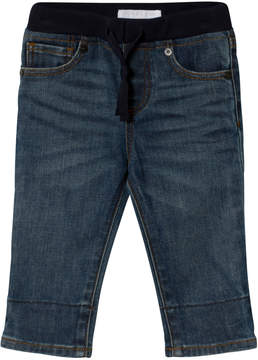 Burberry Indigo Pull Up Jeans with Branded Patch