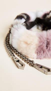 Rebecca Minkoff Fur Cross Body Strap with Chain