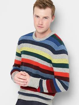 Gap Merino wool blend crazy stripe crewneck sweater
