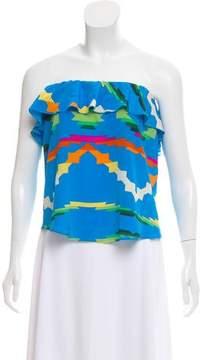 Amanda Uprichard Printed Silk Top