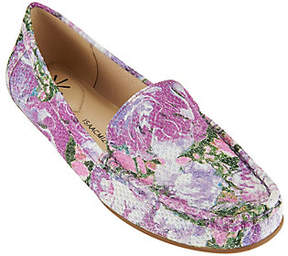 Isaac Mizrahi Live! Floral Printed LeatherMoccasins