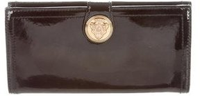 Gucci Continental Crest Wallet - BLACK - STYLE