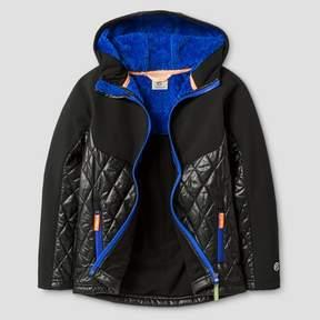 Champion Boys' Softshell/Puffer Jacket - Black