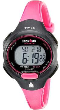 Timex Sport Ironman Pink and Black Mid Size 10 Lap Watch Watches