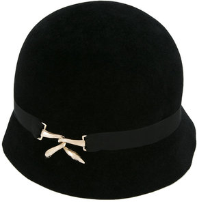 Lanvin ribbon detail cloche hat