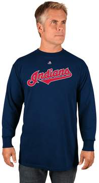 Majestic Boys 8-20 Cleveland Indians Wordmark Tee