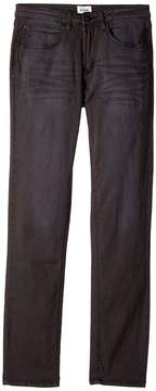 Hudson Jagger Fit Slim Straight Fit French Terry in Black Raw/Tonal Boy's Clothing
