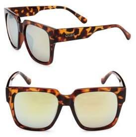 Quay Tinted 53MM Square Sunglasses