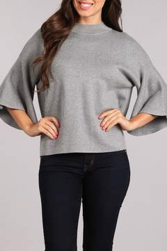 Blvd 3/4 Wide Sleeve Knit Sweater