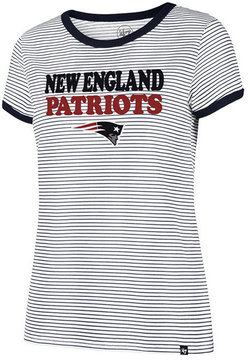 '47 Women's New England Patriots Striped Ringer T-Shirt