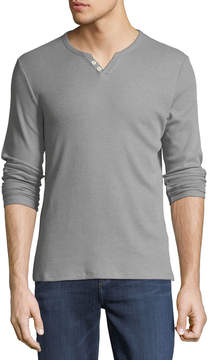 Joe's Jeans Wintz Long-Sleeve Henley Tee, Gray