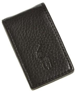 Polo Ralph Lauren Men's Pebble Leather Money Clip - Black