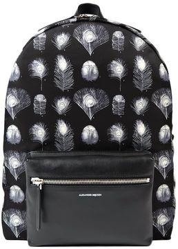 Alexander McQueen Peacock Feather Print Backpack